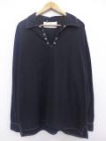 XL★古着 長袖 トップス 無地 大きいサイズ 黒 ブラック 19sep25 中古 メンズ