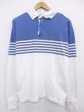 S★古着 長袖 ラガー シャツ 90年代 コットン USA製 青他 ブルー 19sep25 中古 メンズ トップス