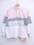 M★古着 長袖 ラガー シャツ 90年代 コカコーラ ピンク 19oct16 中古 メンズ トップス