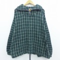 XL★古着 長袖 メキシカン トップス 大きいサイズ メキシコ製 緑 グリーン チェック 19dec11 中古 メンズ