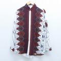 XL★古着 長袖 シャツ 時計 白 ホワイト 20aug05 中古 メンズ トップス
