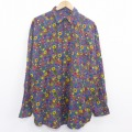 XL★古着 長袖 シャツ 90年代 90s レーヨン 紫他 パープル 20aug06 中古 メンズ トップス