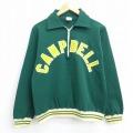 S★古着 長袖 ハーフジップ シャツ 70年代 70s ラッセル キャンベル USA製 緑 グリーン 20sep03 中古 メンズ トップス