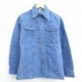 S★古着 長袖 シャツ ジャケット 70年代 70s パッチワーク 紺 ネイビー デニム 【spe】 20oct14 中古 メンズ トップス