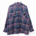 L★古着 長袖 シャツ 90年代 90s ボタンダウン 茶他 ブラウン チェック 21mar02 中古 メンズ トップス