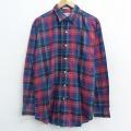 XL★古着 長袖 シャツ 80年代 80s 赤他 レッド チェック 21apr16 中古 メンズ トップス