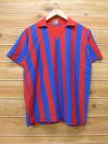S★古着 半袖 トップス 70年代 キャンパス USA製 赤 レッド ストライプ 【spe】 18mar30 中古 メンズ