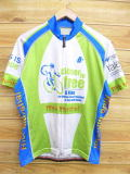 L★古着 半袖 サイクリング シャツ 自転車 企業広告 白 ホワイト 18may10 中古 メンズ トップス WS
