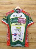 XS★古着 半袖 サイクリング シャツ オリーブ 企業広告 USA製 緑他 グリーン 18may22 中古 メンズ トップス WS