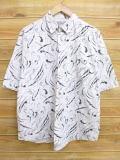 L★古着 半袖 シャツ 80年代 USA製 白 ホワイト 【spe】 18may22 中古 メンズ トップス