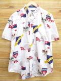 XL★古着 半袖 シャツ 90年代 ラルフローレン Ralph Lauren チャップス ゴルフ 白 ホワイト 【spe】 18may22 中古 メンズ トップス