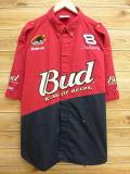 XL★古着 半袖 シャツ バドワイザー スナップオン NASCAR 大きいサイズ 赤 レッド 18may22 中古 メンズ トップス