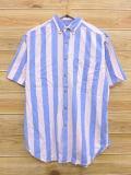 M★古着 半袖 シャツ 90年代 薄ピンク他 ストライプ 18jun11 中古 メンズ トップス