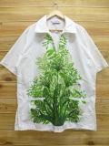 XL★古着 半袖 トップス 80年代 植物 白 ホワイト 【spe】 18jun13 中古 メンズ