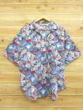 XL★古着 半袖 シャツ 90年代 ヤシの木 花 大きいサイズ USA製 赤他 レッド 【spe】 18jun14 中古 メンズ トップス