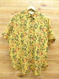 XL★古着 半袖 シャツ サックスフィクスアベニュー 実 シルク 大きいサイズ 黄 イエロー 18jun20 中古 メンズ トップス