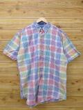 XL★古着 半袖 シャツ 90年代 ラルフローレン Ralph Lauren チャップス 赤他 レッド チェック 18jun22 中古 メンズ トップス
