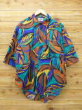 L★古着 半袖 シャツ 80年代 葉 USA製 茶他 ブラウン 【spe】 18jun22 中古 メンズ トップス