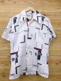 M★古着 半袖 シャツ 70年代 白 ホワイト 【spe】 sh70s 18jun22 中古 メンズ トップス