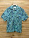 XL★古着 半袖 シャツ オービス ORVIS トカゲ 大きいサイズ 緑 グリーン タイダイ 18jul06 中古 メンズ トップス