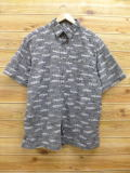 XL★古着 半袖 シャツ ピューリタン 魚 グレー 18jul09 中古 メンズ トップス