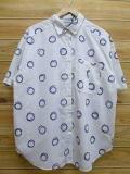 XL★古着 半袖 シャツ 90年代 水玉 白 ホワイト 18jul16 中古 メンズ トップス