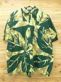 XL★古着 半袖 シャツ 葉 大きいサイズ 緑 グリーン 18jul16 中古 メンズ トップス