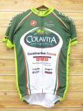 M★古着 半袖 サイクリング シャツ COLAVITA オリーブオイル 緑 グリーン 18jul16 中古 メンズ トップス