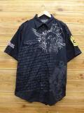 XL★古着 半袖 シャツ エコー ECKO スカル 大きいサイズ 黒 ブラック 【spe】 18jul23 中古 メンズ トップス
