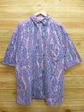 XL★古着 半袖 シャツ 紫系 パープル 【spe】 18aug07 中古 メンズ トップス