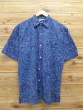 L★古着 半袖 シャツ 90年代 USA製 青 ブルー 【spe】 18aug08 中古 メンズ トップス
