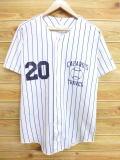 L★古着 半袖 ベースボール シャツ 80年代 ウィルソン 野球 20 USA製 白 ホワイト ストライプ 18aug09 中古 メンズ トップス