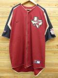 XL★古着 半袖 ベースボール シャツ ナイキ NIKE MLB ヒューストンアストロズ 大きいサイズ エンジ系 ユニフォーム 18aug27 中古 メンズ トップス