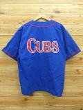 XL★古着 半袖 ベースボール シャツ MLB シカゴブルズ 青 ブルー ユニフォーム 18aug27 中古 メンズ トップス