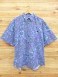 L★古着 半袖 シャツ 90年代 渦巻き 紫他 パープル 【spe】 18aug29 中古 メンズ トップス