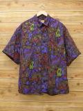 L★古着 半袖 シャツ 90年代 こげ茶他 ブラウン 18aug30 中古 メンズ トップス