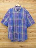 XL★古着 半袖 シャツ 90年代 ギャップ GAP 大きいサイズ 紺他 ネイビー チェック 18aug30 中古 メンズ トップス