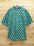XL★古着 半袖 シャツ カタリナ 大きいサイズ 緑 グリーン 18sep03 中古 メンズ トップス