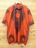 XL★古着 半袖 トップス 花 大きいサイズ オレンジ 18sep05 中古 メンズ