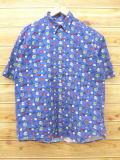 L★古着 半袖 シャツ サイコロ 青 ブルー 【spe】 18sep05 中古 メンズ トップス