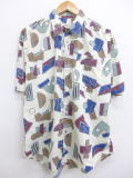 L★古着 半袖 シャツ 90年代 薄黄系 イエロー 19mar22 中古 メンズ トップス