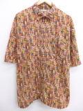 XL★古着 半袖 シャツ 葉巻 大きいサイズ 茶 ブラウン 19mar22 中古 メンズ トップス