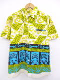 M★古着 ハワイアン シャツ 70年代 ハワイ製 黄他 イエロー shh 【spe】 19jun04 中古 メンズ トップス