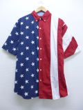 【20%OFF】XL★古着 半袖 シャツ レッドヘッド 星条旗 大きいサイズ 赤他 レッド 19jul25 中古 メンズ トップス