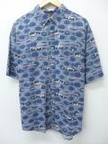 XL★古着 半袖 シャツ ボート 紺 ネイビー 19aug23 中古 メンズ トップス