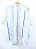 XL★古着 半袖 シャツ 90年代 アメリカンイーグル American Eagle USA製 白他 ホワイト ストライプ 19aug26 中古 メンズ トップス