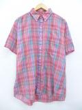 XL★古着 半袖 シャツ 90年代 ピンク他 マドラス チェック 19aug26 中古 メンズ トップス