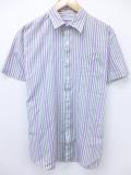 XL★古着 半袖 シャツ 90年代 マクレガー McGREGOR グレー ストライプ 19aug27 中古 メンズ トップス