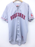 XL★古着 半袖 ベースボール シャツ マジェスティック MLB ボストンレッドソックス 50 大きいサイズ グレー メジャーリーグ 野球 ユニフォーム 19aug27 中古 メンズ トップス