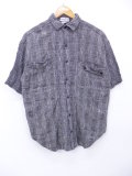 L★古着 半袖 シャツ グレー グレンチェック 19aug28 中古 メンズ トップス